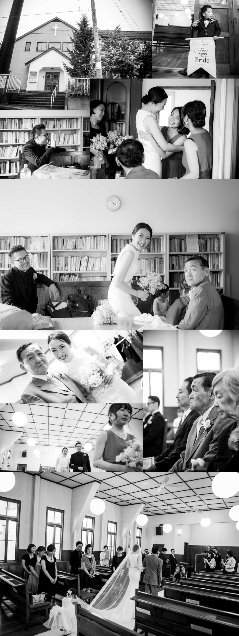 北海道小樽での結婚式シオン教会