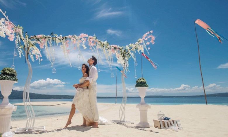 無人島での結婚式プロデュース